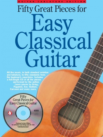 50 Great Pieces For  Easy Classical Guitar Solos With Tab: Book & Cd