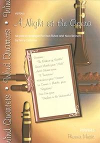 A Night At The Opera: 2 Flutes & 2 Clarinet: Score & Parts