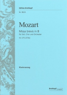 Missa Brevis In Bb Major Kv275: Vocal: Satb ( Breitkopf )