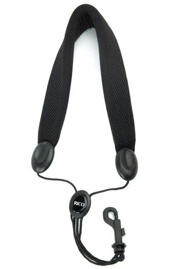 Rico SLA18 Tenor Or Bari Sax Padded Saxophone Strap: Plastic Snap Hook