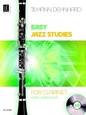 Easy Jazz Studies With CD: Listen Learn & Play: Clarinet: Book & Cd