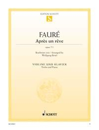 Apres Un Reve Op7/1: Violin  & Piano