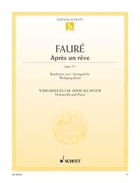 Faure: Apres Un Reve Op7/1: Cello & Piano (Schott)