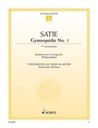 Gymnopedie No 1: Cello & Piano  *(Gymnopedie No 1: Cello & Piano (Schott)
