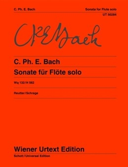 Sonata A Minor Solo Flute Wq132G (Wiener Urtext)