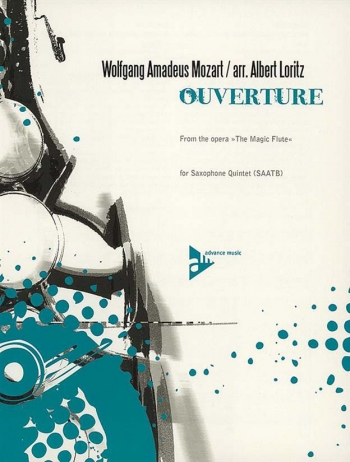 Overture From The Magic Flute: Saxophone Quintet (SAATB) Score & Parts