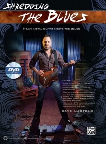 Shredding The Blues Guitar Tab: Book & DVD