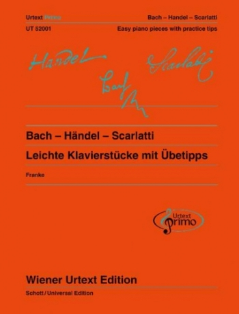 Easy Piano Pieces With Practising Tips - Bach /Handel/Scarlatti Urtext Primo