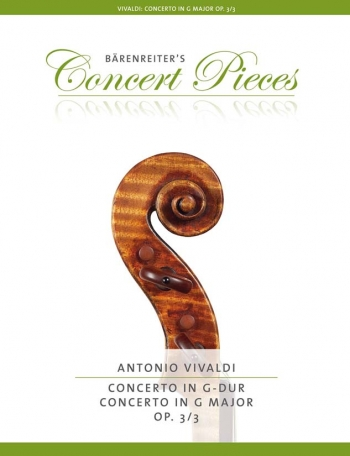 Violin Concerto G Major Op.3/3: Violin & Piano (Barenreiter)