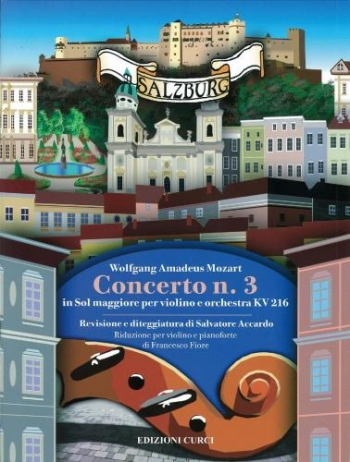 Violin Concerto No.3 G Major K216: Violin & Piano (Curci)
