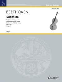 Cello Sonatina C Minor WoO 43a (179b) Cello & Piano (Schott)