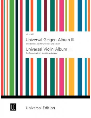 Universal Violin Album: Bk3: Violin & Piano
