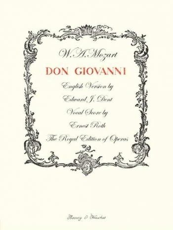Don Giovanni: Vocal Score English Version (Dent) B&H