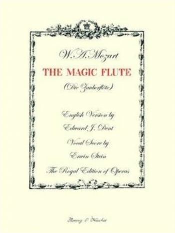 Magic Flute: Vocal Score English Version (Dent) B&H