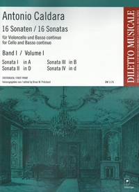 16 Sonatas Vol 1: Cello & Piano