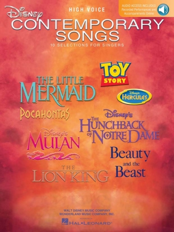 Disney Contemporary Songs For High Voice (Book/Online Audio)