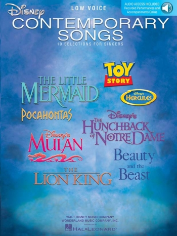 Disney Contemporary Songs For Low Voice (Book/Online Audio)