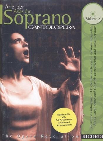 Various: Arias For Soprano Vol2 (Cantolopera) Soprano Voice And Piano: Book & Cd