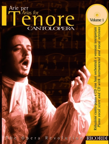 Various: Arias For Tenor Vol1 (Cantolopera) Tenor Voice And Piano: Book & Cd