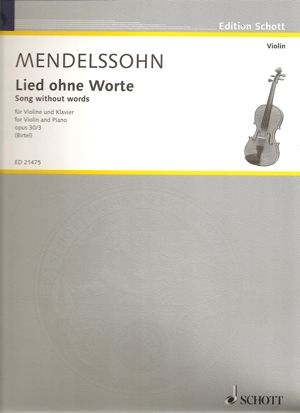 Songs Without Words: Violin & Piano (Schott)