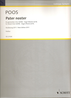 Pater Noster: Vocal Score: SATB