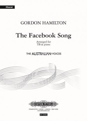 The Facebook Song - TB  And Piano (Gordon Hamilton) (Peters)