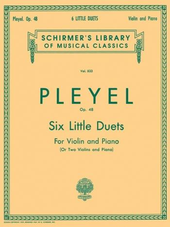 6 Duos: Op48: Violin: Duets: 2 Violins & Piano (Schirmer)