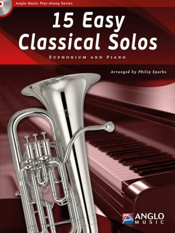 Play-Along Series15 Easy Classical Solos: Euphonioum Treble Or Bass Clef & Piano: Book & Cd