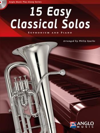 Play-Along Series15 Easy Classical Solos: Euphonioum Treble Or Bass Clef & Piano: Book & Cd