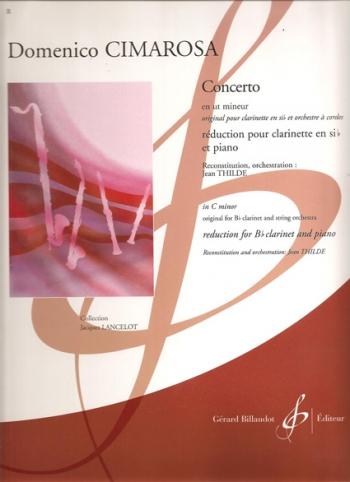 Concerto In C Minor: Clarinet & Piano (Billaudot)