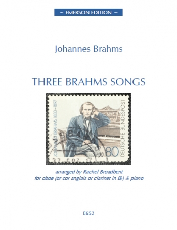 Three Brahms Songs: Oboe (Or Clarinet Or Cor Anglais) And Piano