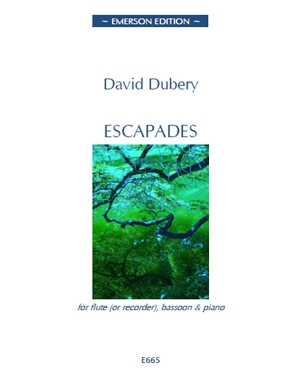 Escapades: Flute (Or Recorder) Bassoon & Piano