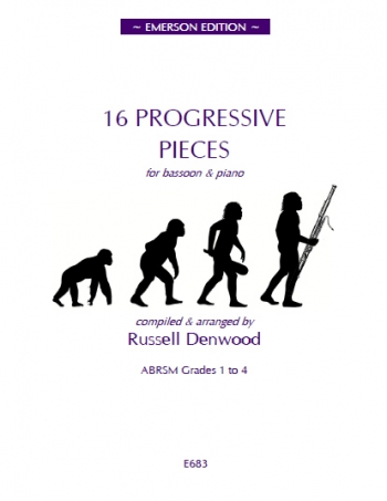 16 Progressive Pieces: Bassoon And Piano: Grades 1-4 Denwood  (Emerson)