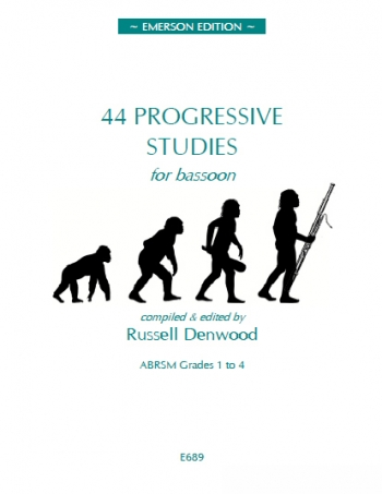 44 Progressive Studies: Bassoon: Grades 1-4 (Emerson)