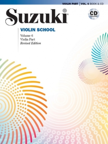 Suzuki Violin School Vol.6 Violin Part Book & Cd (Revised)