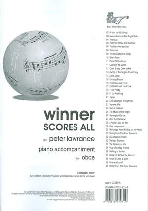 Winner Scores All: Oboe Piano Accompaniment (Lawrance)