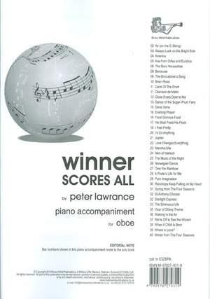 Winner Scores All: Oboe Piano Accompaniment (Lawrance)
