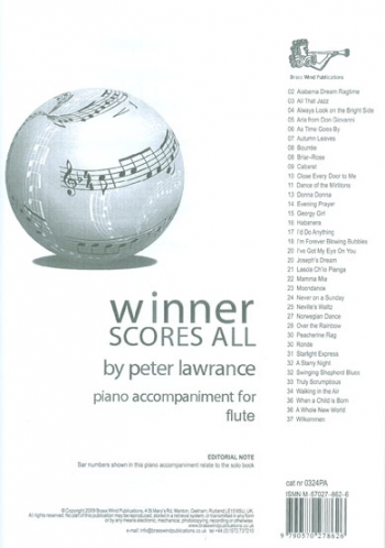 Winner Scores All Flute Piano Accompaniment (Lawrance)