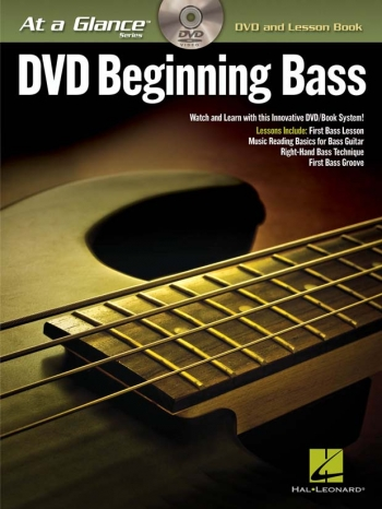 At A Glance Guitar: Beginning Bass Guitar: DVD And Lesson Book