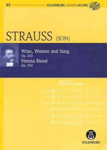 Wine Women Op333 & Vienna Blood Op354: Miniature Score & Cd (Audio Series No 85)