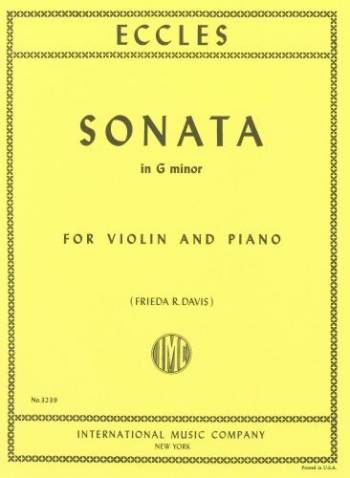 Sonata G Min: Violin & Piano (International)