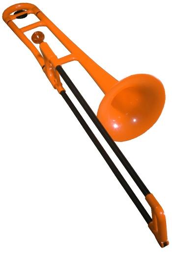 PBone Plastic Trombone Outfit - Orange