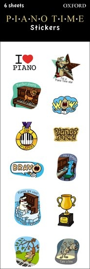 Piano Time Stickers: 6-sheet Pack