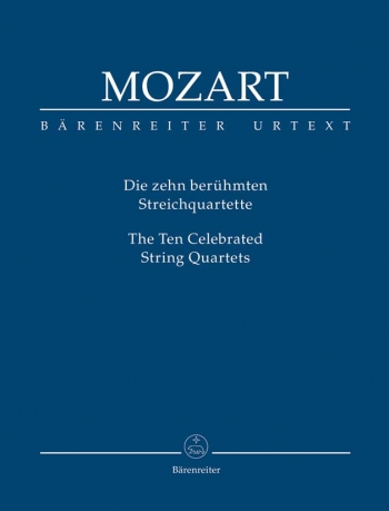10 Celebrated String Quartets: String Quartet: Study Score (Barenreiter)
