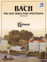 Two & Three Part Inventions: Solo Piano Book & Cd (Kalmus)