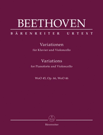 Variations: WoO45 OP66 WoO46: Cello  & Piano (Barenreiter)