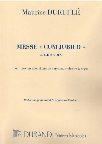 Messe ''Cum Jubilo'' Op.11: Vocal Baritone & Organ