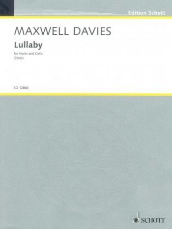 Lullaby For Violin & Cello (2002) (Schott)