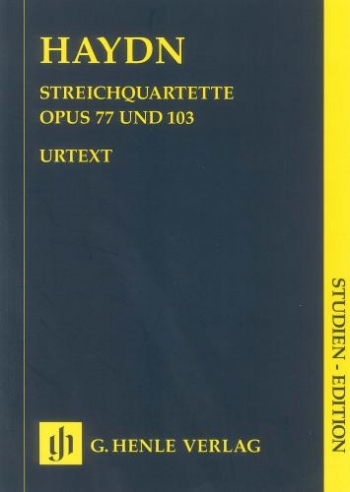 String Quartet: Op77&103: Miniature Score (Henle)