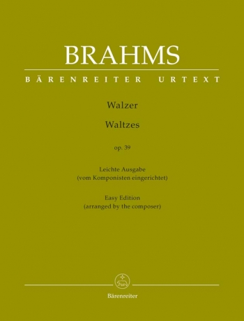 Waltzes Op.39 Piano Solo: Easy Edition (Barenreiter)